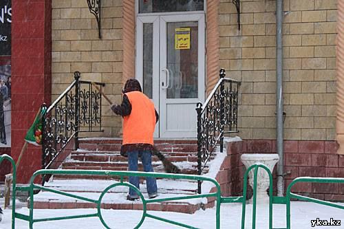 Усть-Каменогорск город снежный