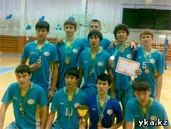 Сборная команда Восточно-Казахстанской области по волейболу среди юношей (1995 - 96 г.р.) стала Чемпионом Республики Казахстан