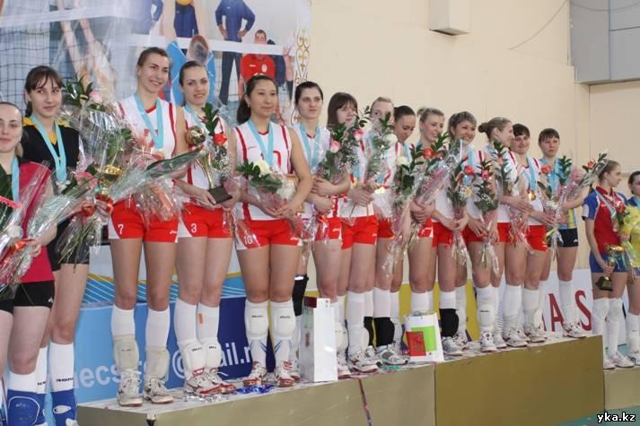 Волейболистки Усть-Каменогорска становятся чемпионами Казахстана.