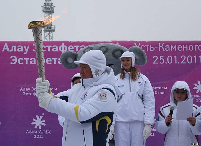 Аким Восточного Казахстана принял эстафету огня Азиады 2011