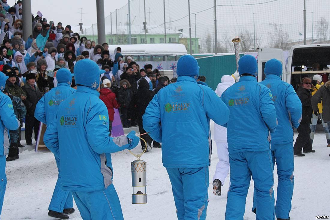 Эстафета огня Азиады-2011 в Усть-Каменогорске