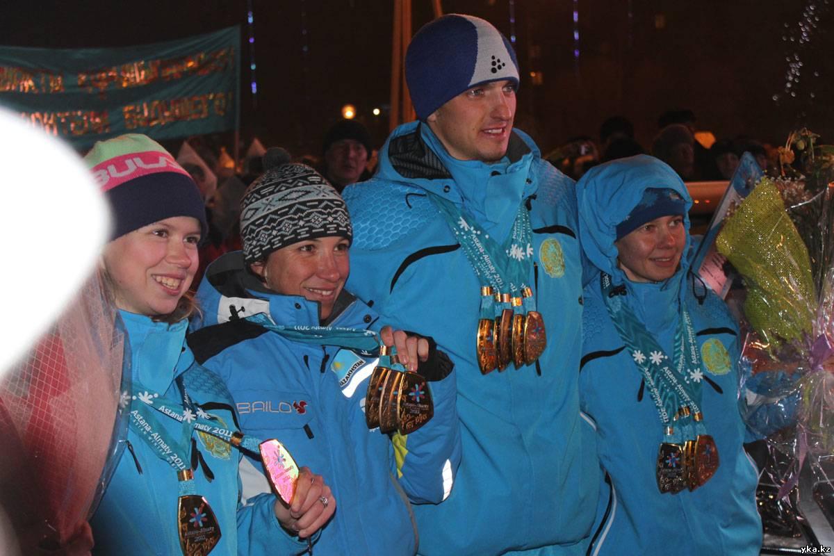 Усть-Каменогорск чествует победителей Азиады-2011