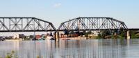 Железнодорожный мост через реку Иртыш в Усть-Каменогорске