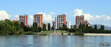 Иртыш и Улба сливаются в этом месте, Стрелка, Усть-Каменогорск