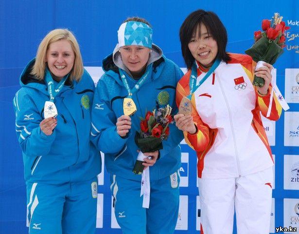 Казахстанская спортсменка Кузьмина Евгения из Восточного Казахстана выигрывает серебро