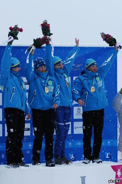 Казахстанские лыжницы одержали победу в эстафете, Елена Коломина, Оксана Яцкая, Анастасия Слонова и Светлана Малахова-Шишкина